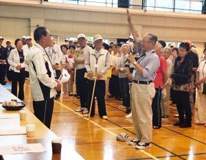 中原区老人クラブ連合会の第48回老人スポーツ大会における選手宣誓