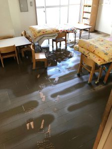 浸水被害を受けた西宮内保育園・その2